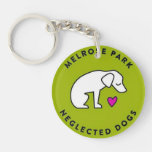 Melrose Park Neglected Dogs Houston, TX Acrylic Key Chain