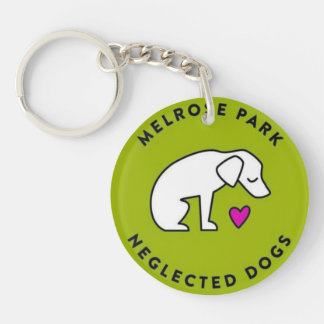 Melrose Park Neglected Dogs Houston, TX Single-Sided Round Acrylic Keychain