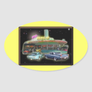 Mel's Drive-In Stickers (Oval)