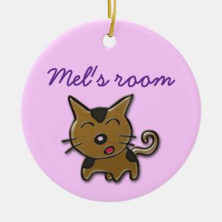 Mel's room ceramic ornament