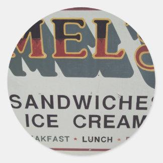 mels classic round sticker