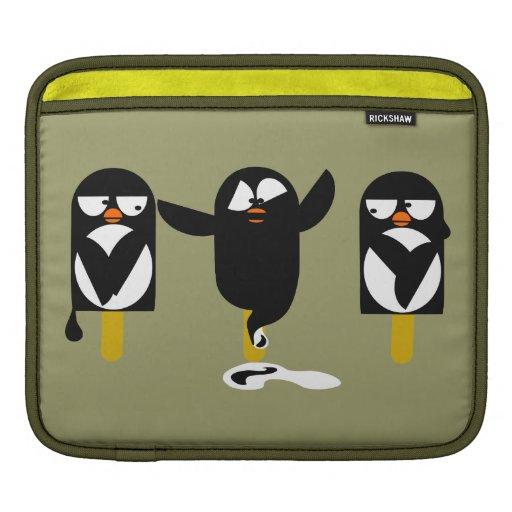 melt a penguin iPad sleeves