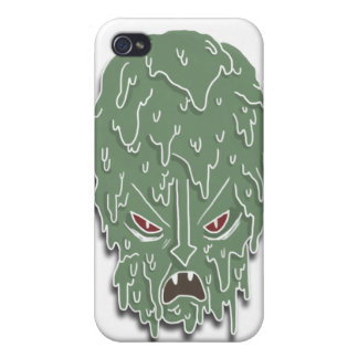 Melt Evil Head (white) Case For iPhone 4