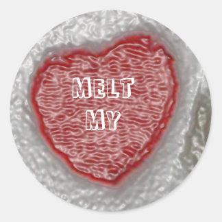 Melt My Heart Classic Round Sticker