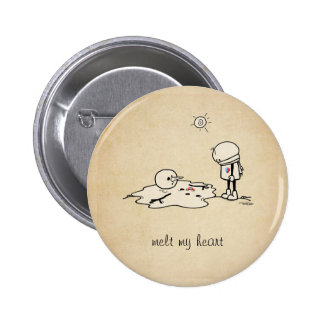 Melt my heart with love pinback buttons