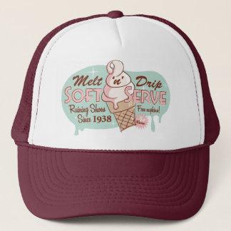 Melt 'n' Drip Soft Serve Ice Cream Hat (Maroon)