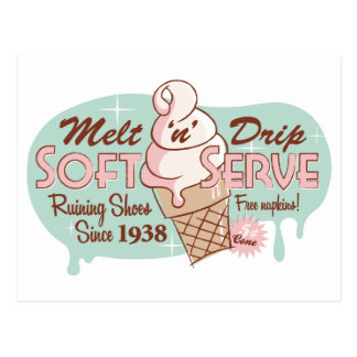 Melt 'n' Drip Soft Serve Ice Cream Postcard