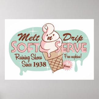 Melt 'n' Drip Soft Serve Ice Cream Print