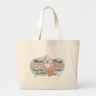 Melt 'n' Drip Soft Serve Ice Cream Tote Jumbo Tote Bag