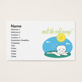 Melt The Cold Away Business Card