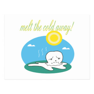 Melt The Cold Away Postcard