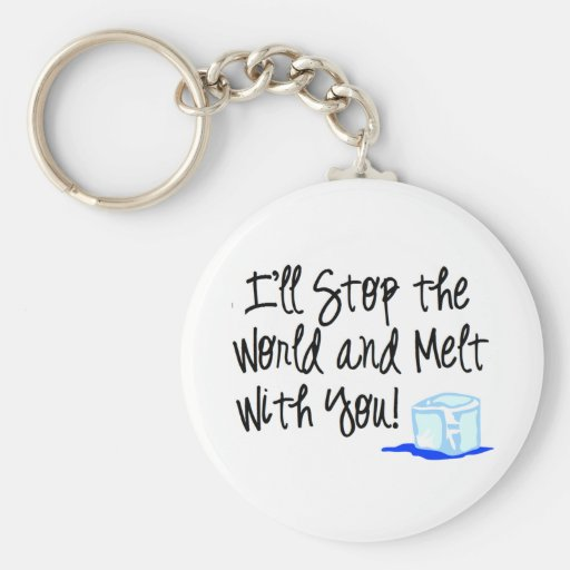 Melt with you! basic round button keychain