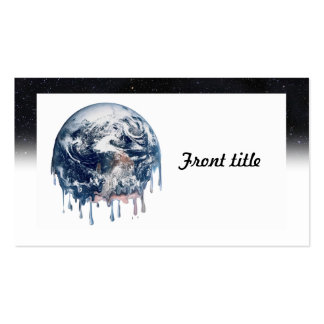Meltdown (Half Universe Background) Double-Sided Standard Business Cards (Pack Of 100)