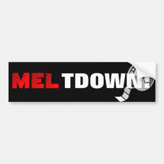 MELTDOWN - Mel Gibson Car Bumper Sticker