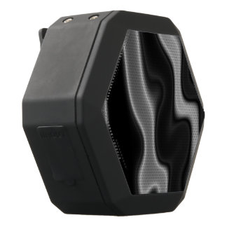 Melted Black&White Abstract Black Bluetooth Speaker