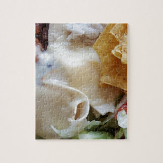 Melted Cheese Nacho Funny Food Jigsaw Puzzle