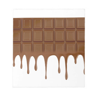 Melted chocolate bar notepad