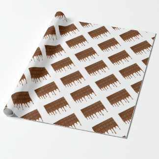 Melted chocolate bar wrapping paper