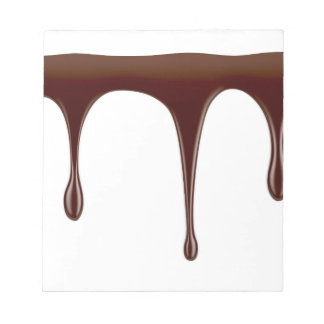 Melted chocolate notepad