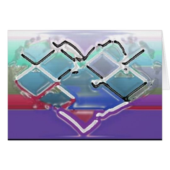 Melted Chrome Heart Card