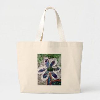 Melted Crayon Floral Design Tote Bags