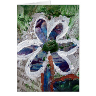 Melted Crayon Floral Design Card