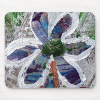 Melted Crayon Floral Design Mouse Pad