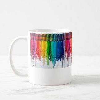 melted crayon mu coffee mug