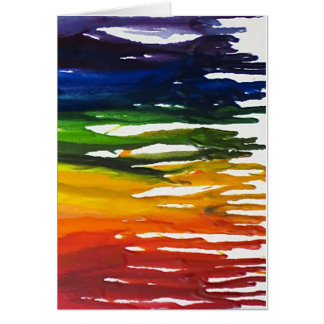 Melted Crayon on canvass Card
