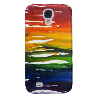Melted Crayon on canvass Samsung Galaxy S4 Cover