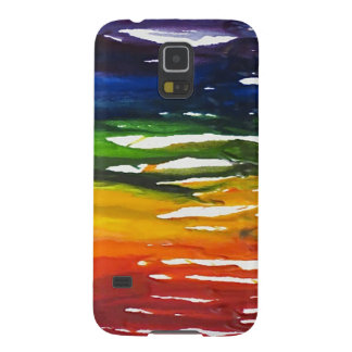 Melted Crayon on canvass Galaxy S5 Cover