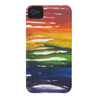 Melted Crayon on canvass iPhone 4 Case-Mate Cases