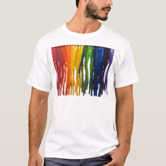 Melted Crayon on canvass T-Shirt