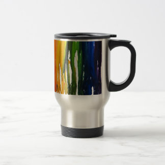 Melted Crayon on canvass Travel Mug