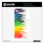 Melted Crayon Skin Decals For The iPhone 4S