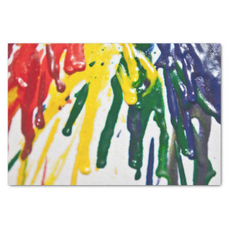 "Melted crayon tissue paper 10"" x 15"" tissue paper"