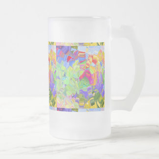 Melted Crayons 16 Oz Frosted Glass Beer Mug