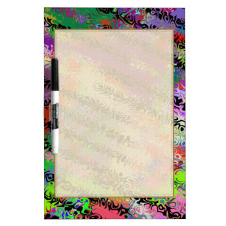 Melted Crayons Abstract Dry Erase Board