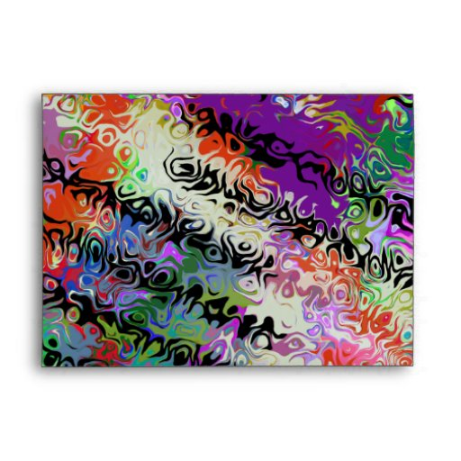 Melted Crayons Abstract Envelopes