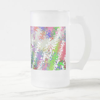 Melted Crayons Abstract Frosted Glass Beer Mug