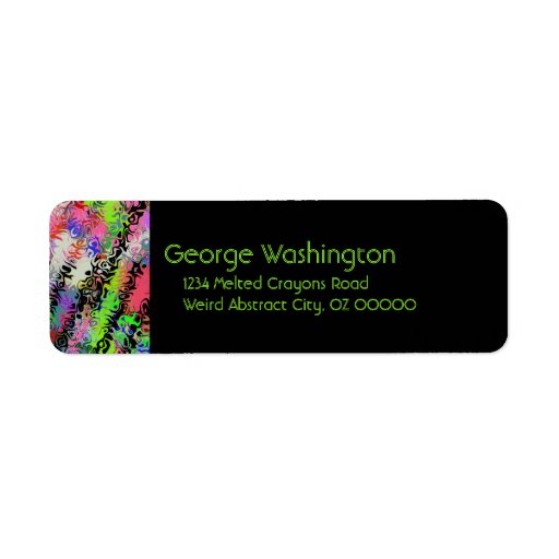 Melted Crayons Abstract Custom Return Address Label