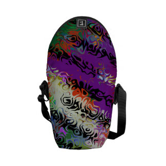 Melted Crayons Abstract Courier Bag