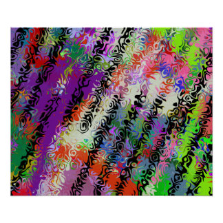 Melted Crayons Abstract Poster