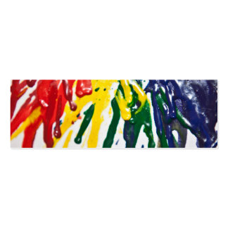 Melted Crayons Bookmark Business Card Template