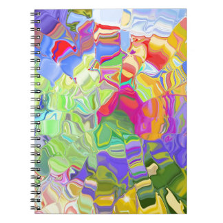Melted Crayons Spiral Notebook