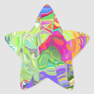 Melted Crayons Star Sticker