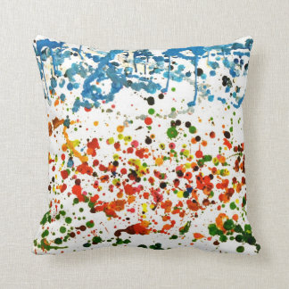 melted crayons the colourful garden throw pillows