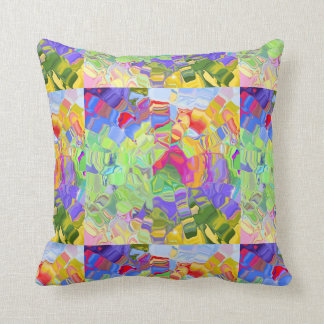 Melted Crayons Throw Pillows