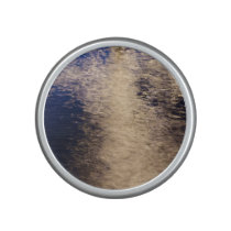 Melted gold abstract speaker