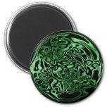Melted Green Metallic Magnet